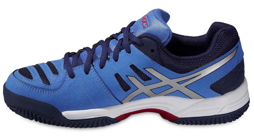 zapatillas mujer asics gel padel pro 3 azul y plata