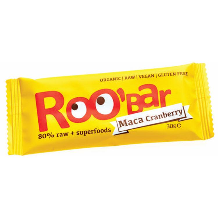 Roo´bar Raw Energy Bar Maca And Cranberries 30 G