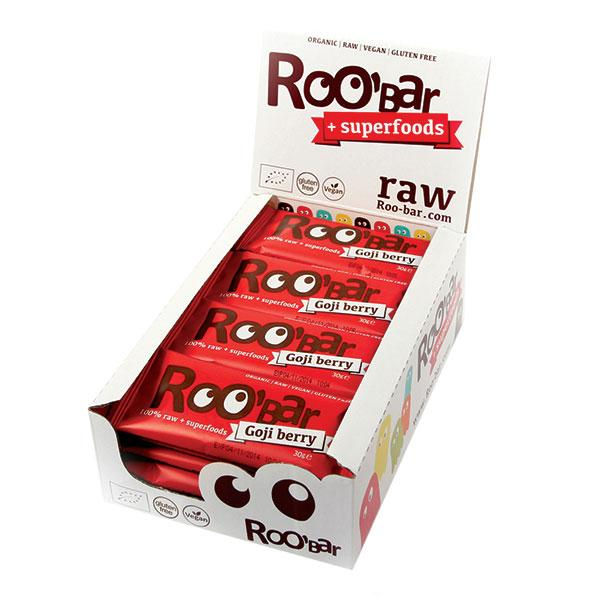 Roo´bar Raw Energy Bar Goji Berry 30 G X 20