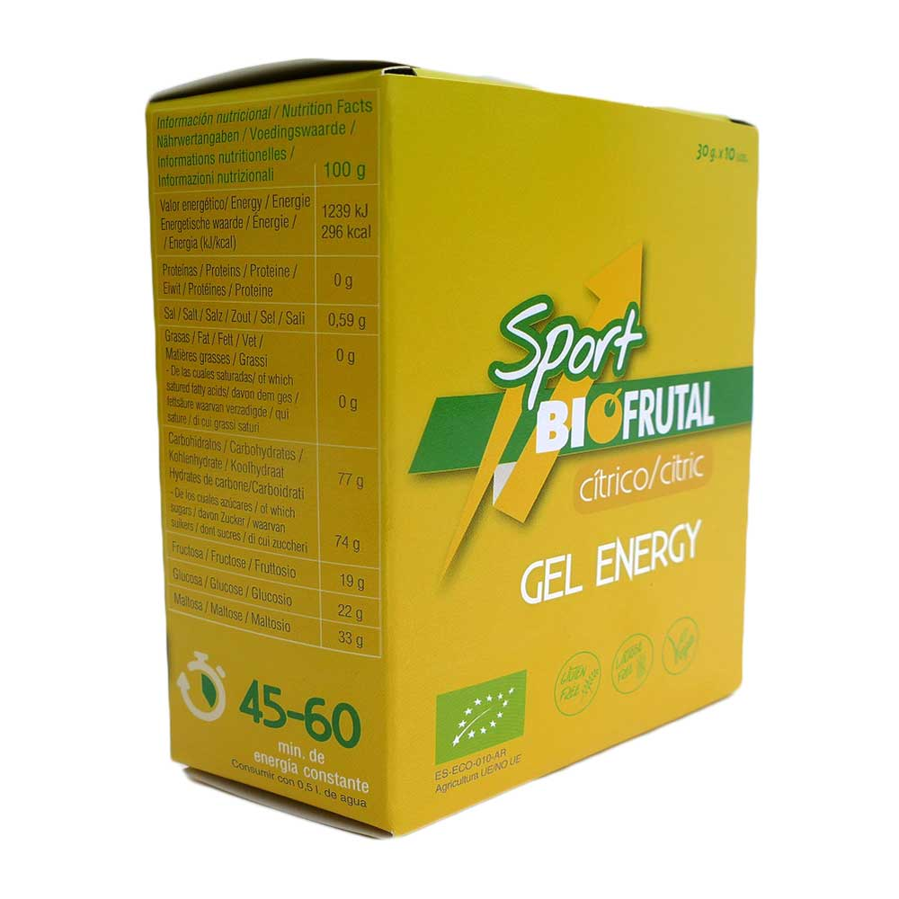 Biofrutal Gel Energy Citric 30 g x 10 Units