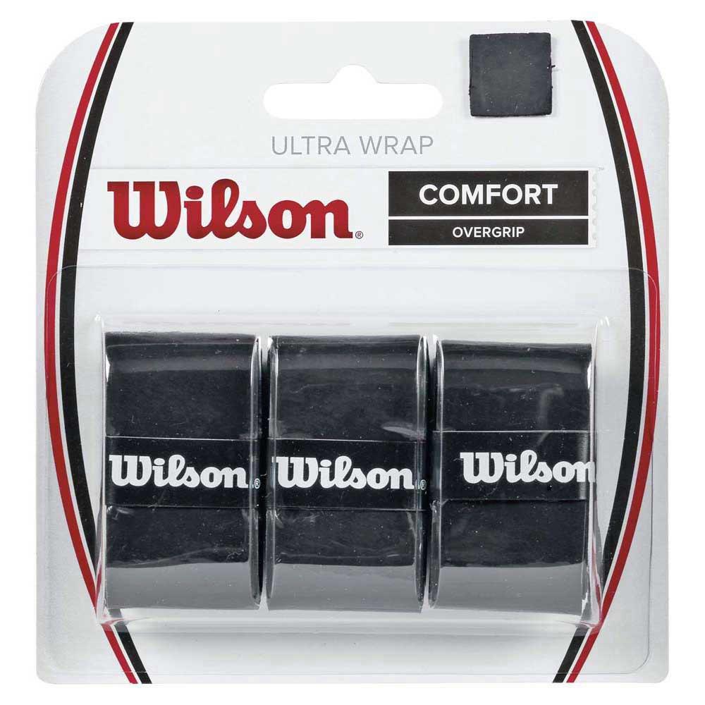 Sur-grips Wilson Ultra Grip Wrap 3 Pack One Size Black