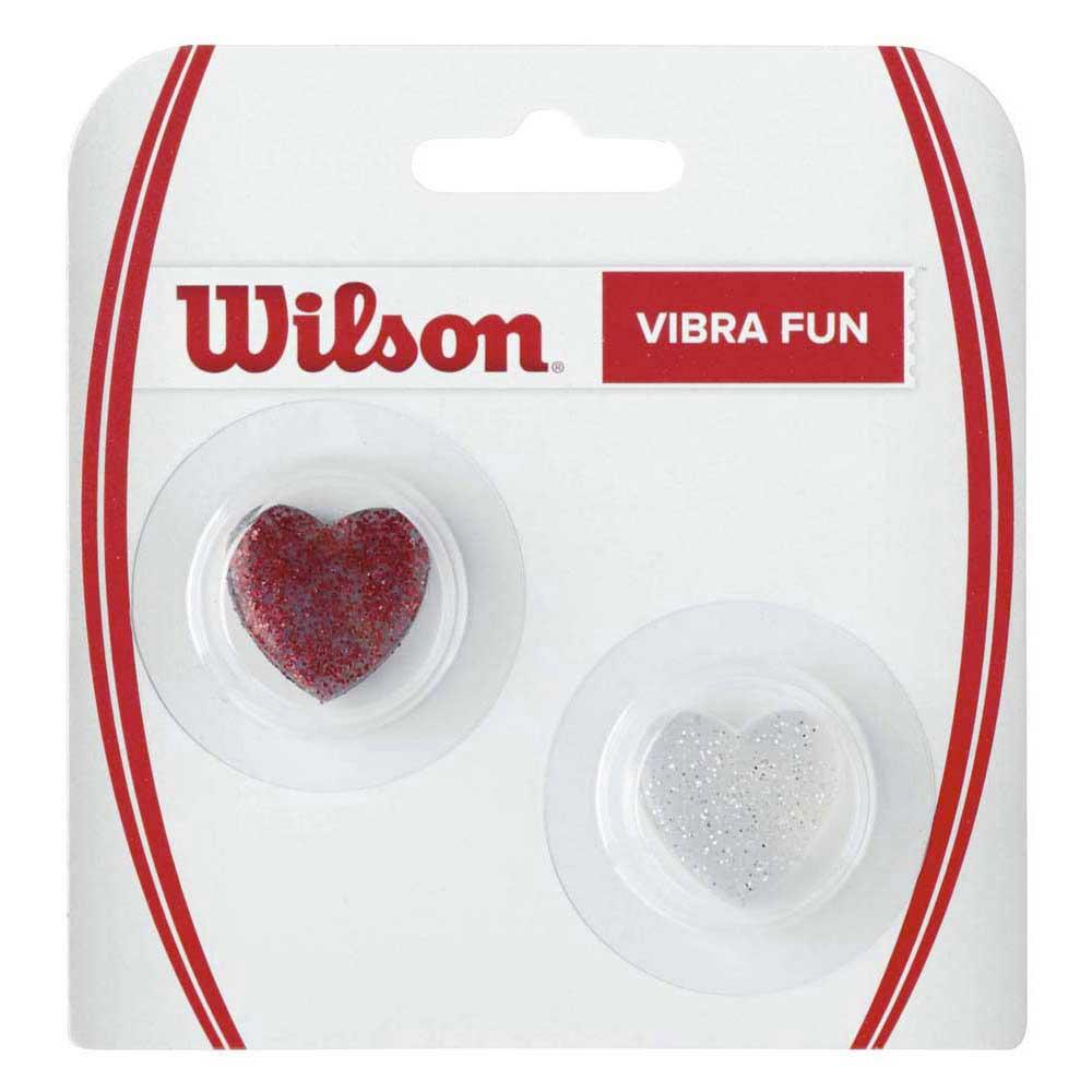 Wilson Vibra Fun Glitter Hearts 2 Units One Size Red / Silver