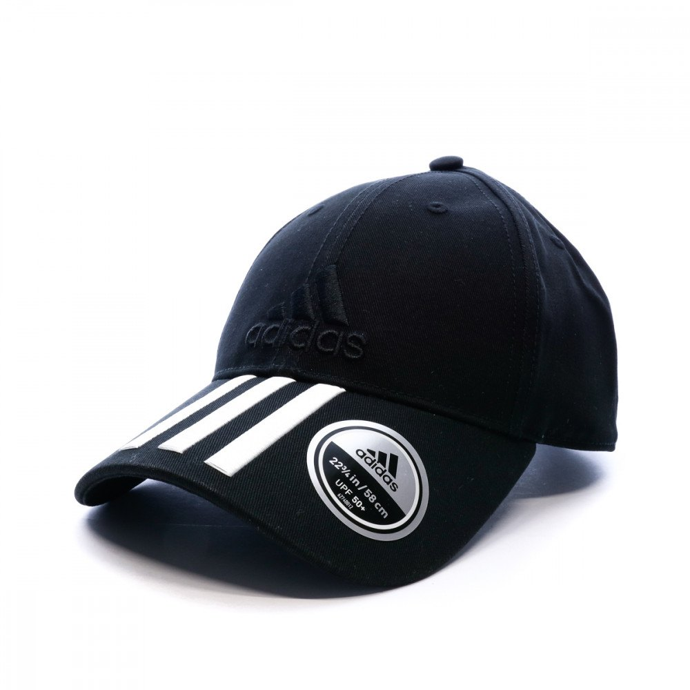 ae037d688355a adidas Cap 6P 3 Stripes Cotton Black buy and offers on Smashinn