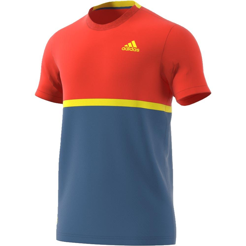 adidas Court T Shirt Red buy and offers on Smashinn