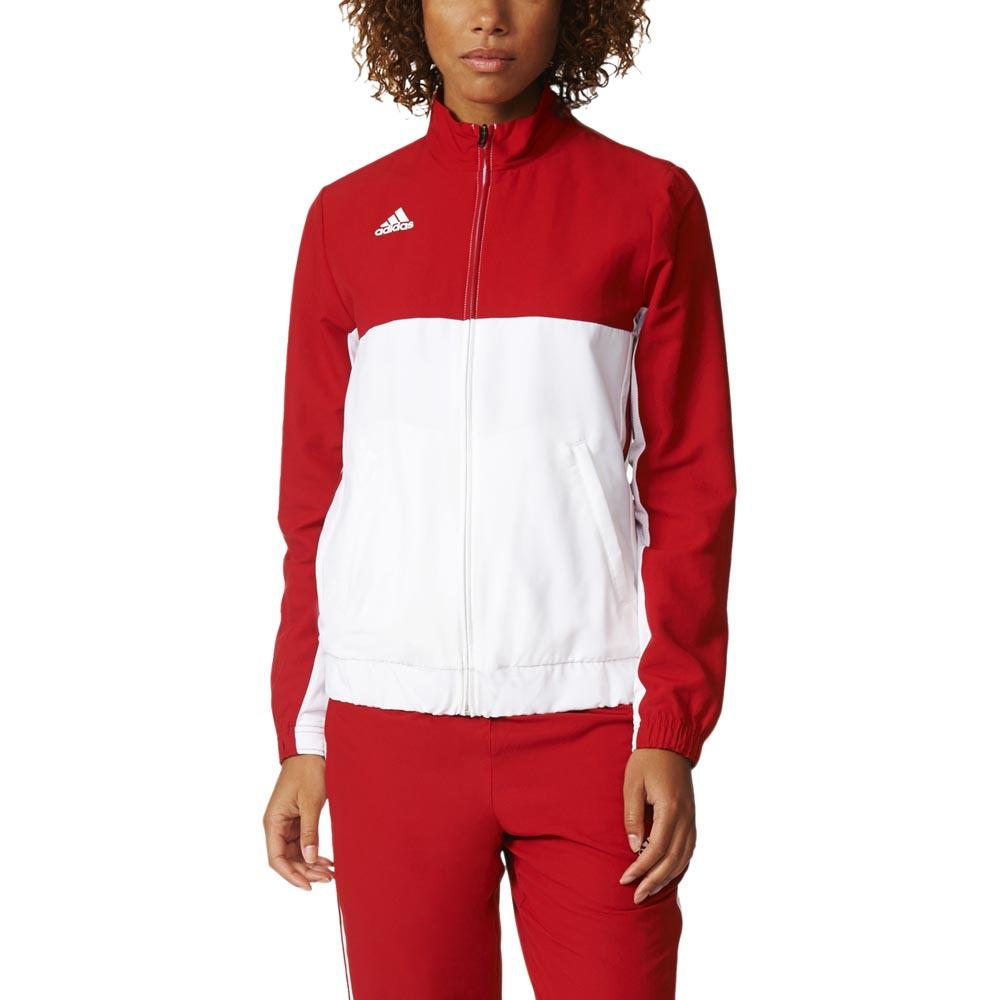 Survêtements Adidas T16 Team Jacket L Power Red / White