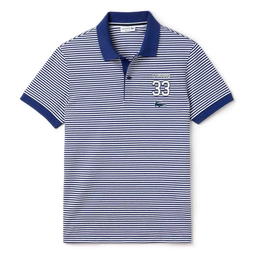 70f8526e9 Lacoste Regular Fit Striped Polo with 33 Design Grey, Smashinn