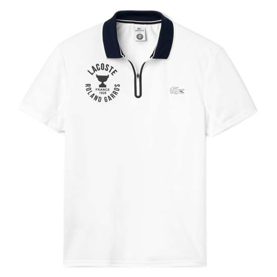 Lacoste Col Zippe Roland-Garros Piquee Ultra Dry