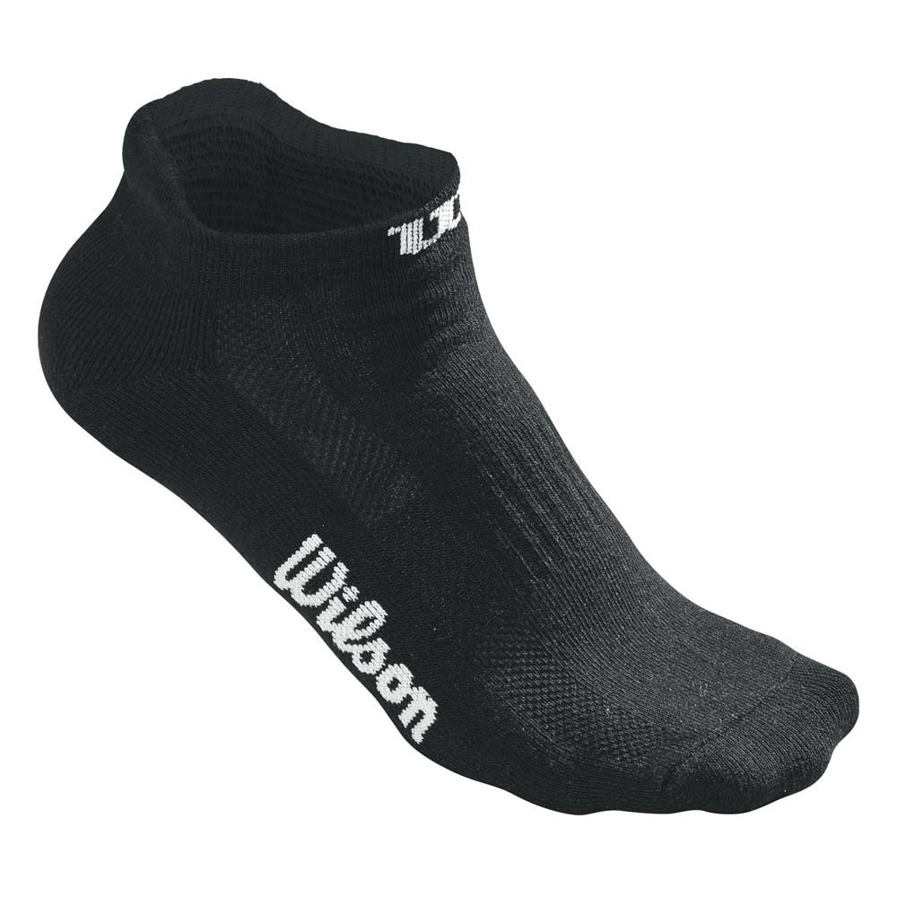 Chaussettes Wilson No Show 3 Pair Pack One Size Black