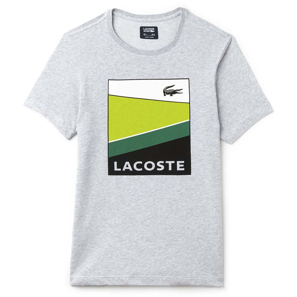 lacoste colorblock print jersey tennis t shirt buy and offers on smashinn. Black Bedroom Furniture Sets. Home Design Ideas