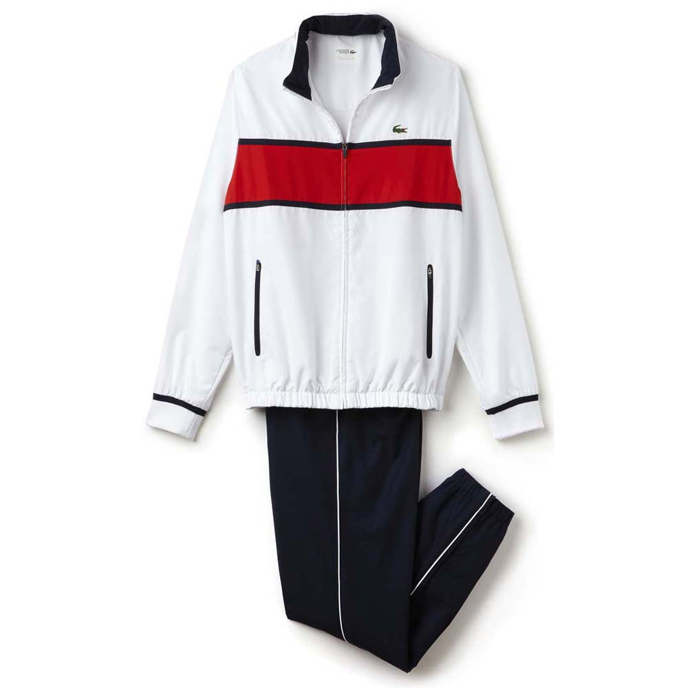 lacoste wh2081 tracksuit white buy and offers on smashinn