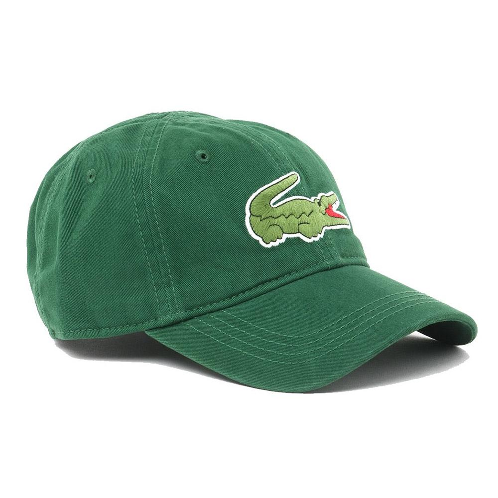 Lacoste Gabardine Cap With Oversized Crocodile Green a68d2a6b52c