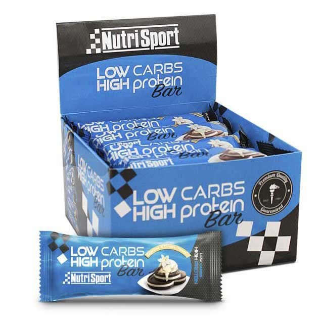Nutrisport Low Carbs High Protein Bar Cookies And Cream 16 Units