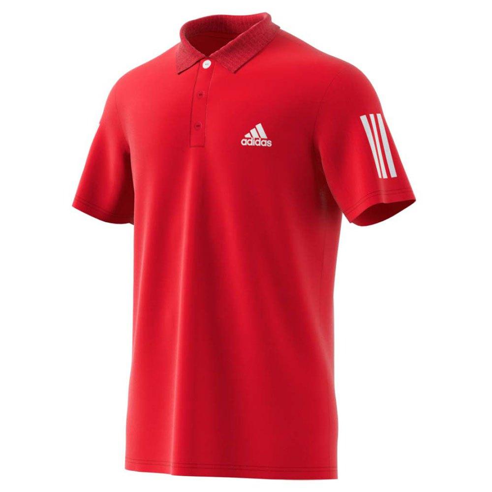 Polos Adidas Club S Scarlet / White / White