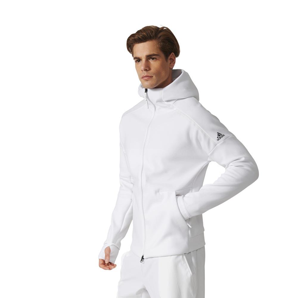 adidas hoodie zne white