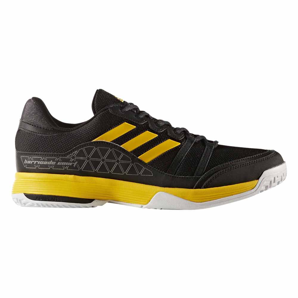 designer fashion 73092 3c8a0 adidas Barricade Court Black buy and offers on Smashinn