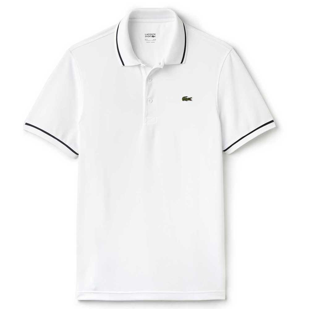 a81b5e4e1a01 Lacoste Ultra Dry Piping Tennis Polo Shirt White