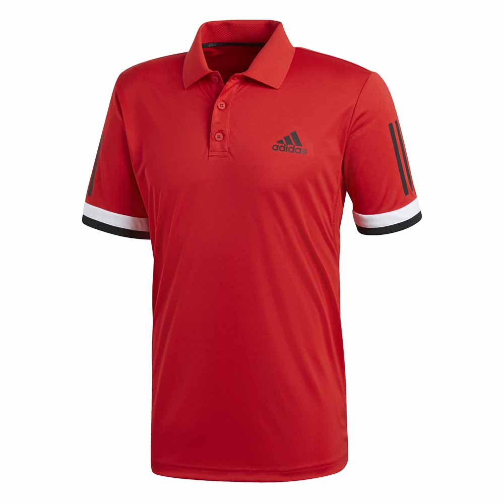 Polos Adidas Club 3 Stripes XS Scarlet
