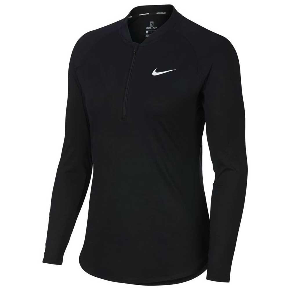 lo mismo Fantasía Mata  Nike Court Pure Half Zip Black buy and offers on Smashinn