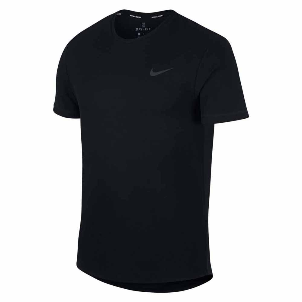 T-shirts Nike Court Dri Fit Challenger Solid S Black / Black / Black