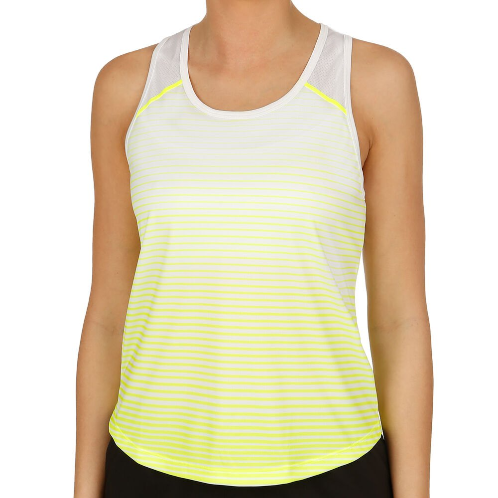 T-shirts Wilson Team Striped L Safety Yellow / White