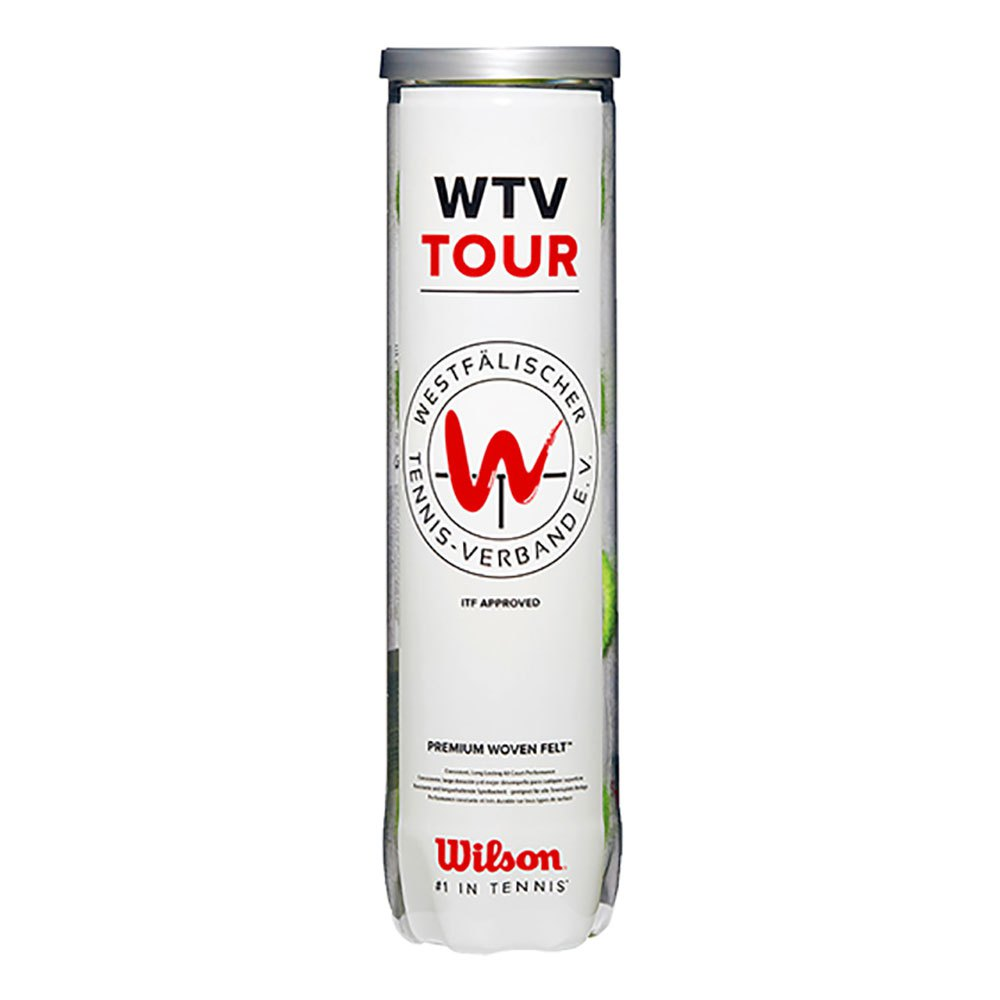 Balles tennis Wilson Wtv Tourall Court 4 Balles Yellow