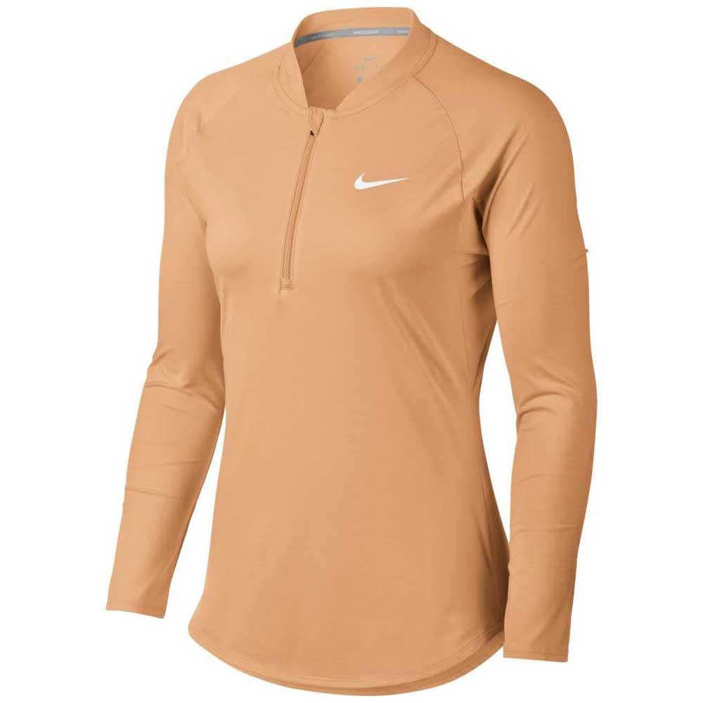 39850243a2e1 Nike Court Pure Half Zip Brown buy and offers on Smashinn