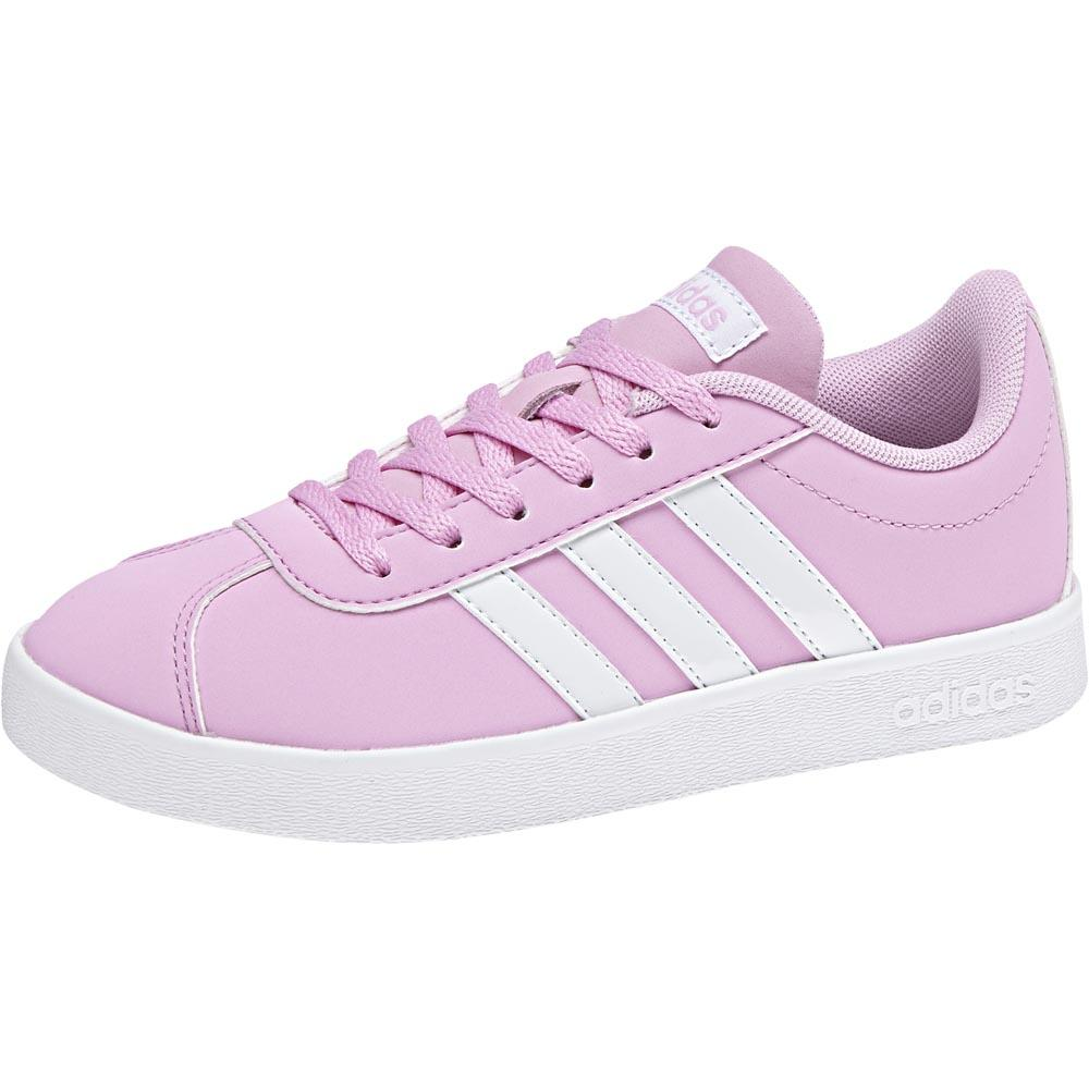 adidas VL Court 2.0 K - Pink buy and offers on Smashinn 90310c16e6c1