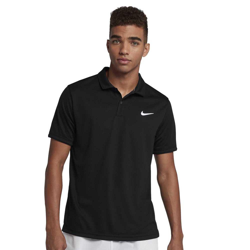 Polos Nike Court Dri Fit Team M Black / Black / White