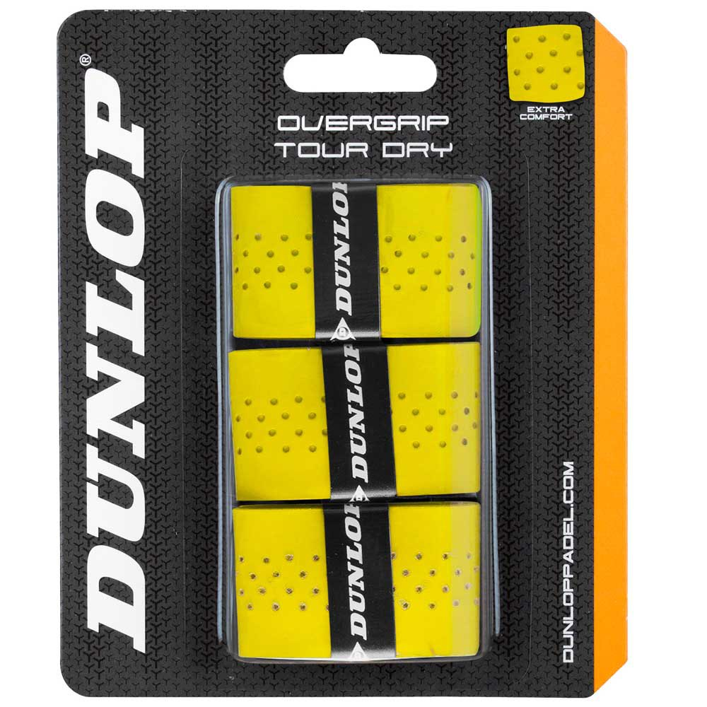 Sur-grips Dunlop Tour Dry 3 Units One Size Yellow