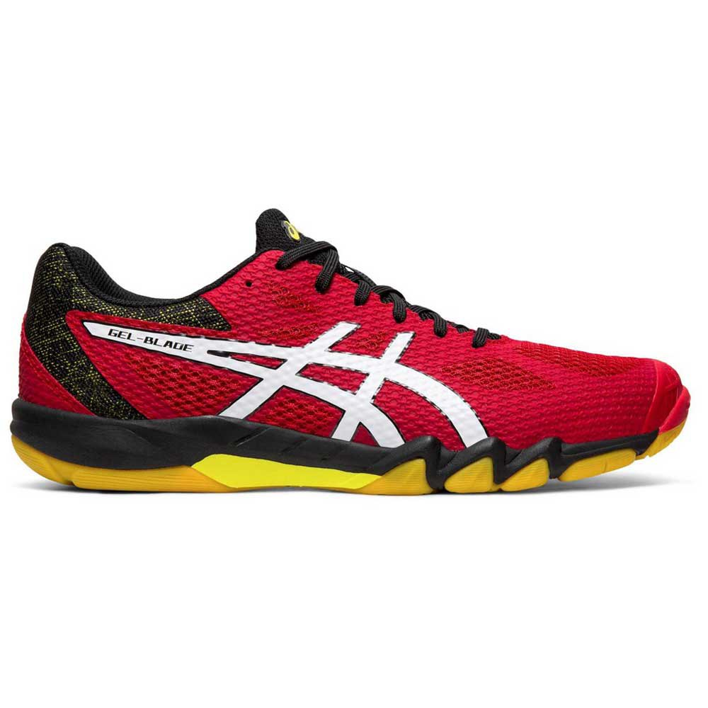 Asics Gel Blade 7 Hard Court Shoes Red buy and offers on Smashinn