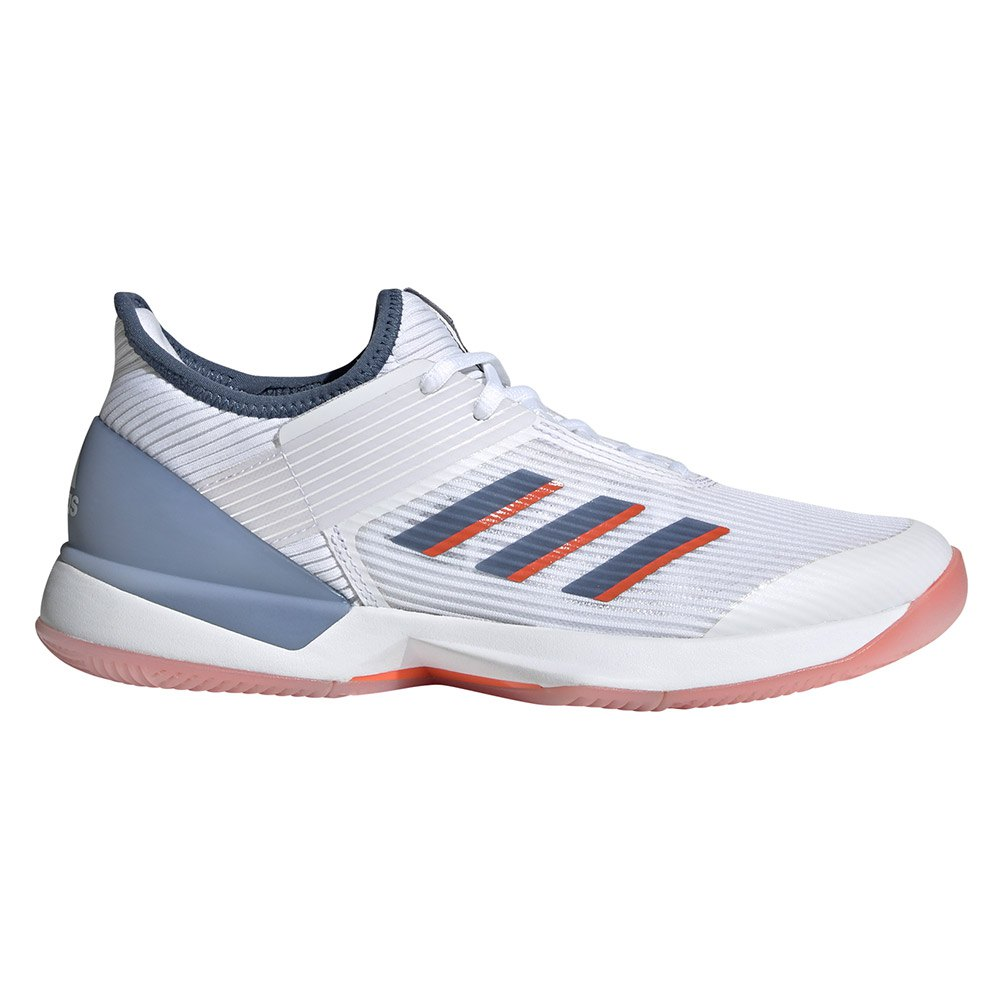 Adidas Adizero Ubersonic 3 EU 40 2/3 Ftwr White / Tech Ink / True Orange