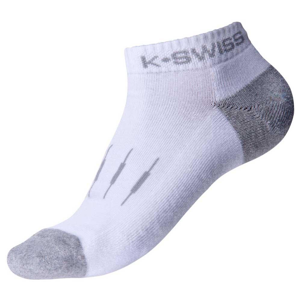 Chaussettes K-swiss All Court EU 35-38 White / Lt Grey