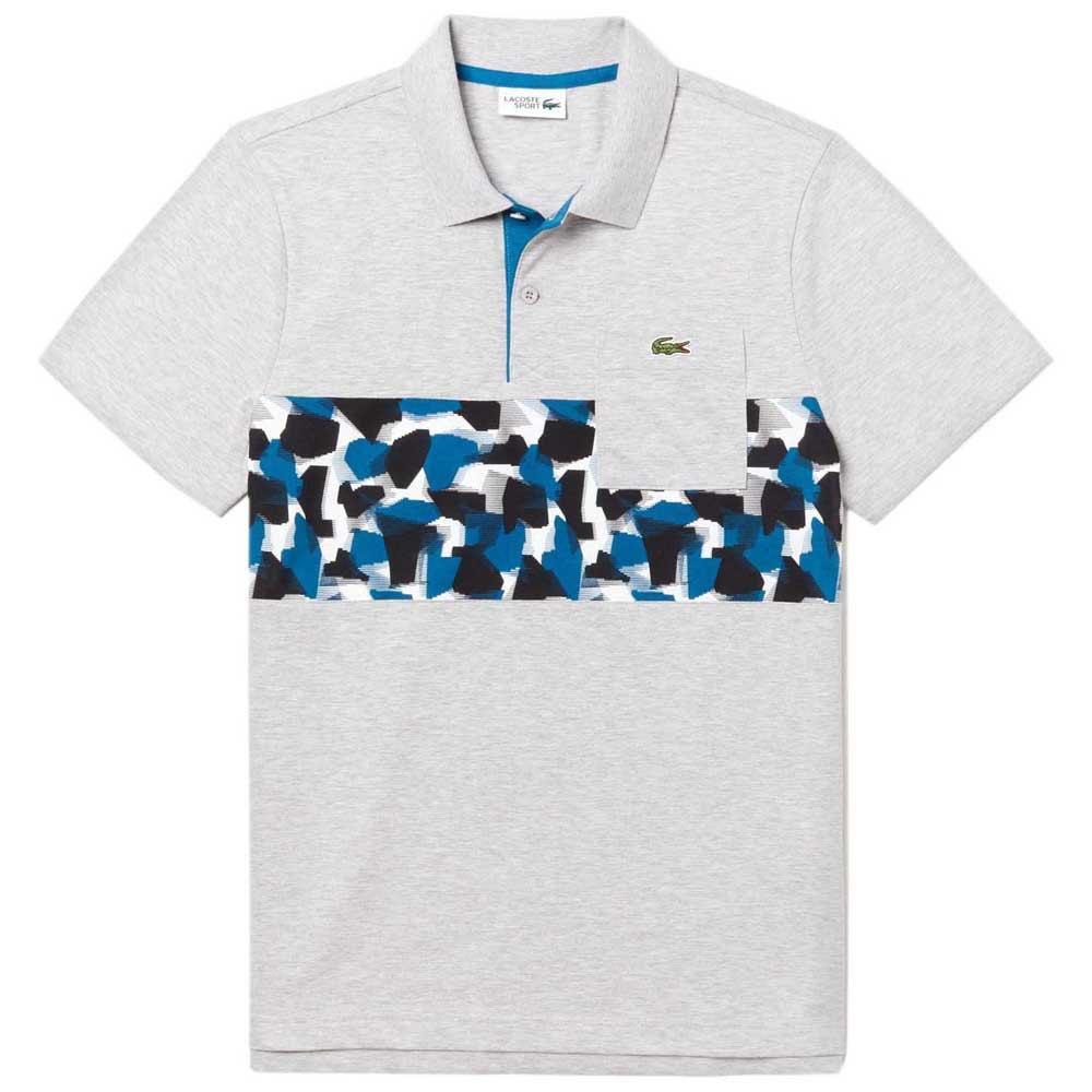 Polos Lacoste Sport Pocket Print Band Ultra Light Cotton