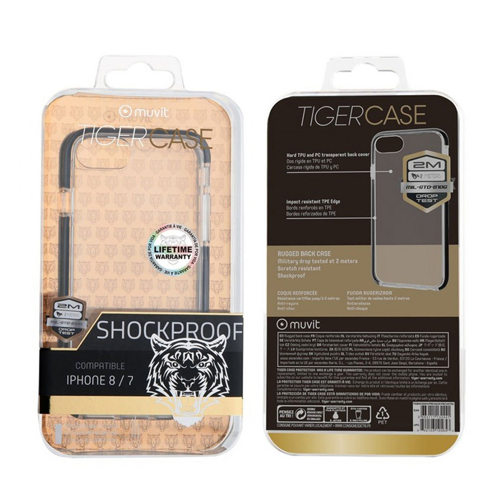 Muvit-tiger Soft Case Shockproof 2m Iphoone Se/8/7 One Size Clear