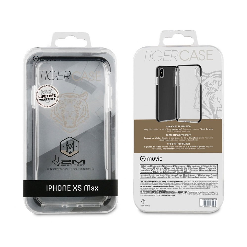 Muvit-tiger Soft Case Shockproof 2m Iphoone Xs Max One Size Clear