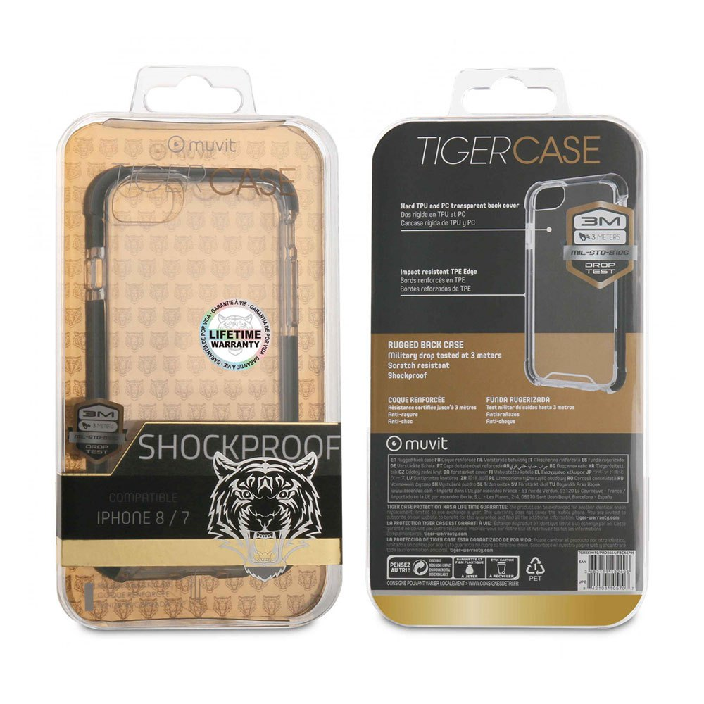 Muvit-tiger Hard Case Shockproof 3miphone 8/7 One Size Clear