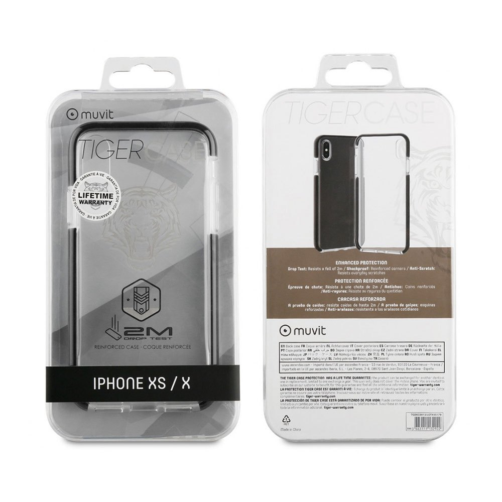 Muvit-tiger Soft Case Shockproof 2m Iphone Xs/x One Size Clear