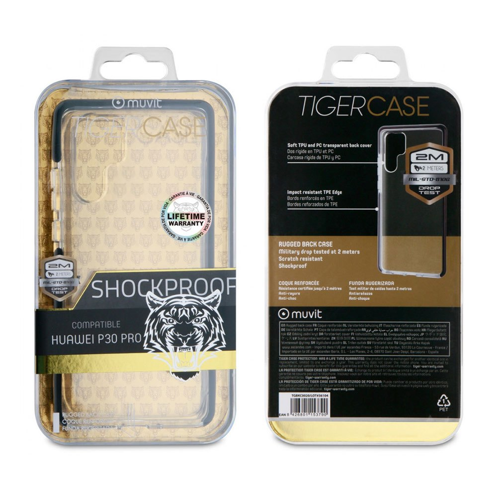 Muvit-tiger Soft Case Shockproof 2m Huawei P30 Pro One Size Clear