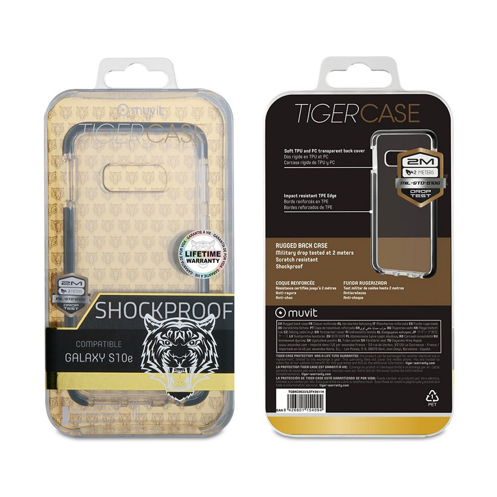 Muvit-tiger Soft Case Shockproof 2m Samsung Galaxy S10e One Size Clear