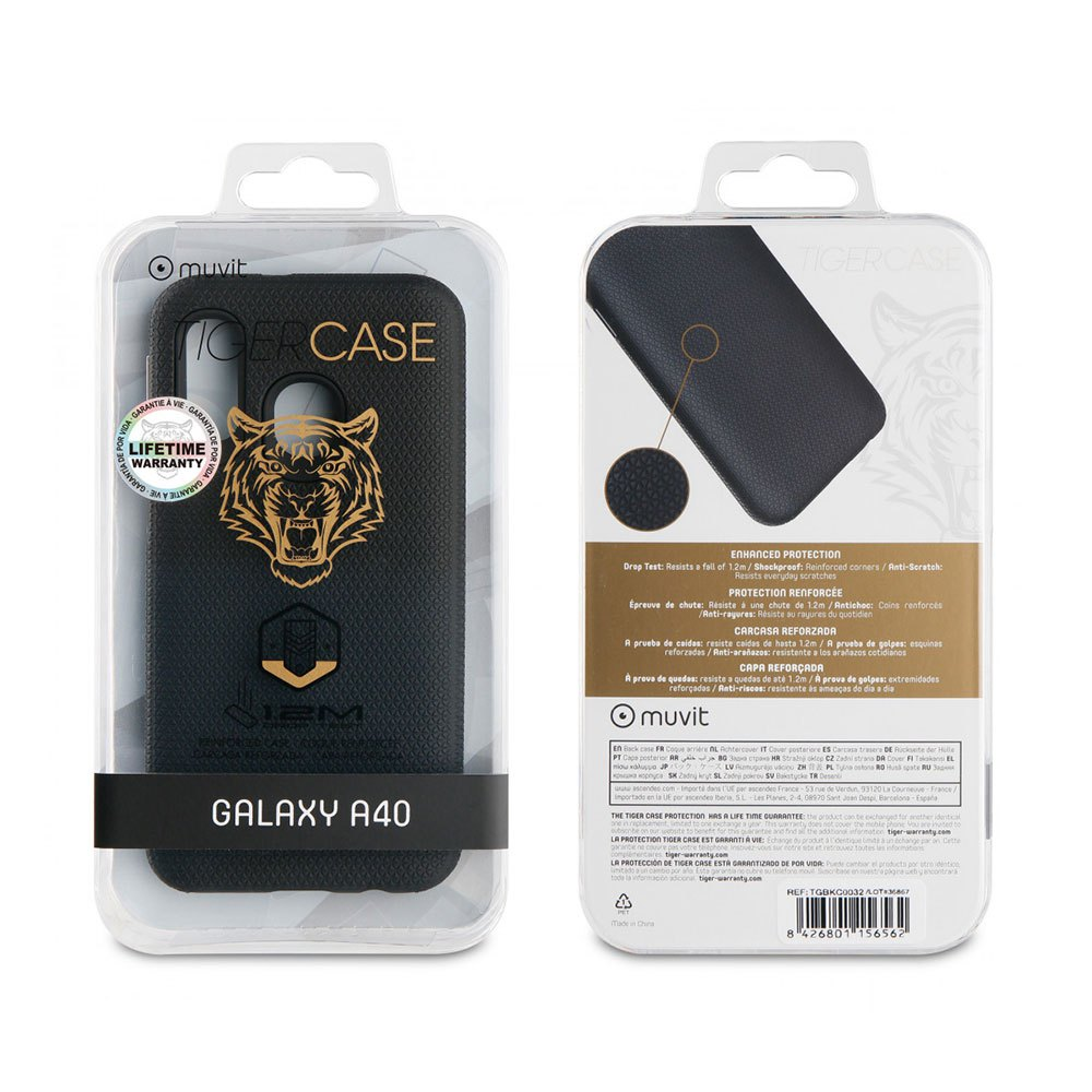 Muvit-tiger Triangle Case Shockproof 1.2m Samsung Galaxy A40 One Size Black