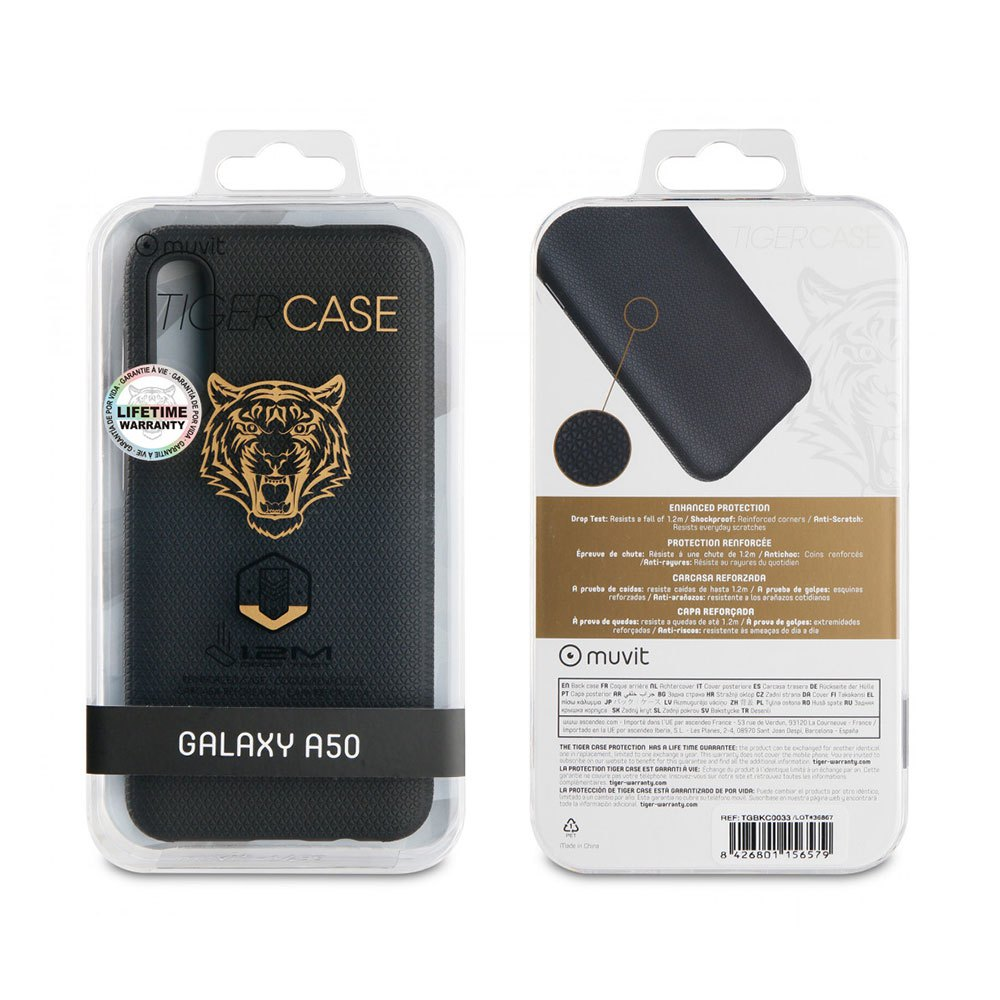 Muvit-tiger Triangle Case Shockproof 1.2m Samsung Galaxy A50 One Size Black