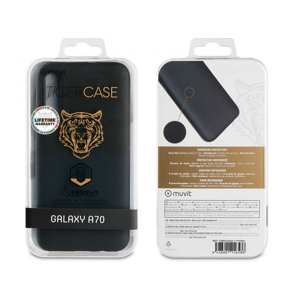 Muvit-tiger Triangle Case Shockproof 1.2m Samsung Galaxy A70 One Size Black