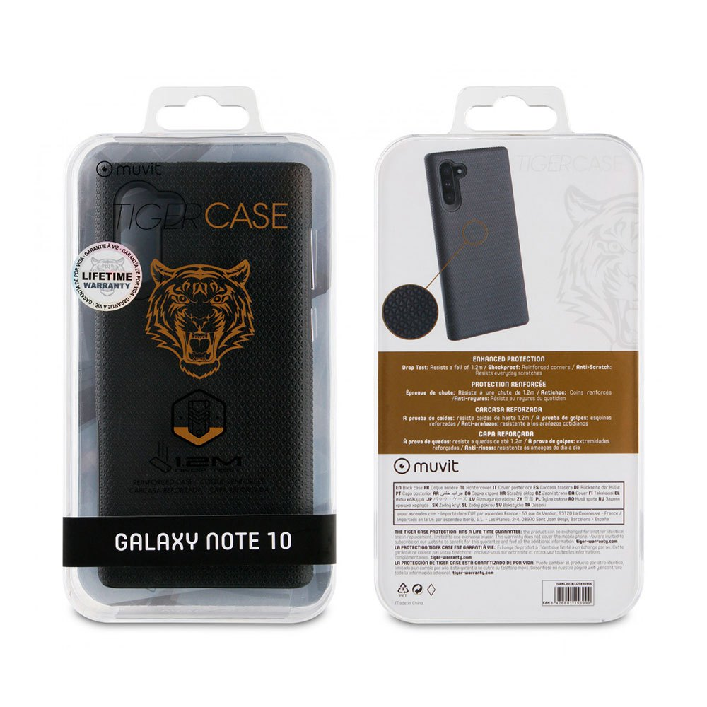 Muvit-tiger Triangle Case Shockproof 1.2m Samsung Galaxy Note 10/10 5g One Size Black