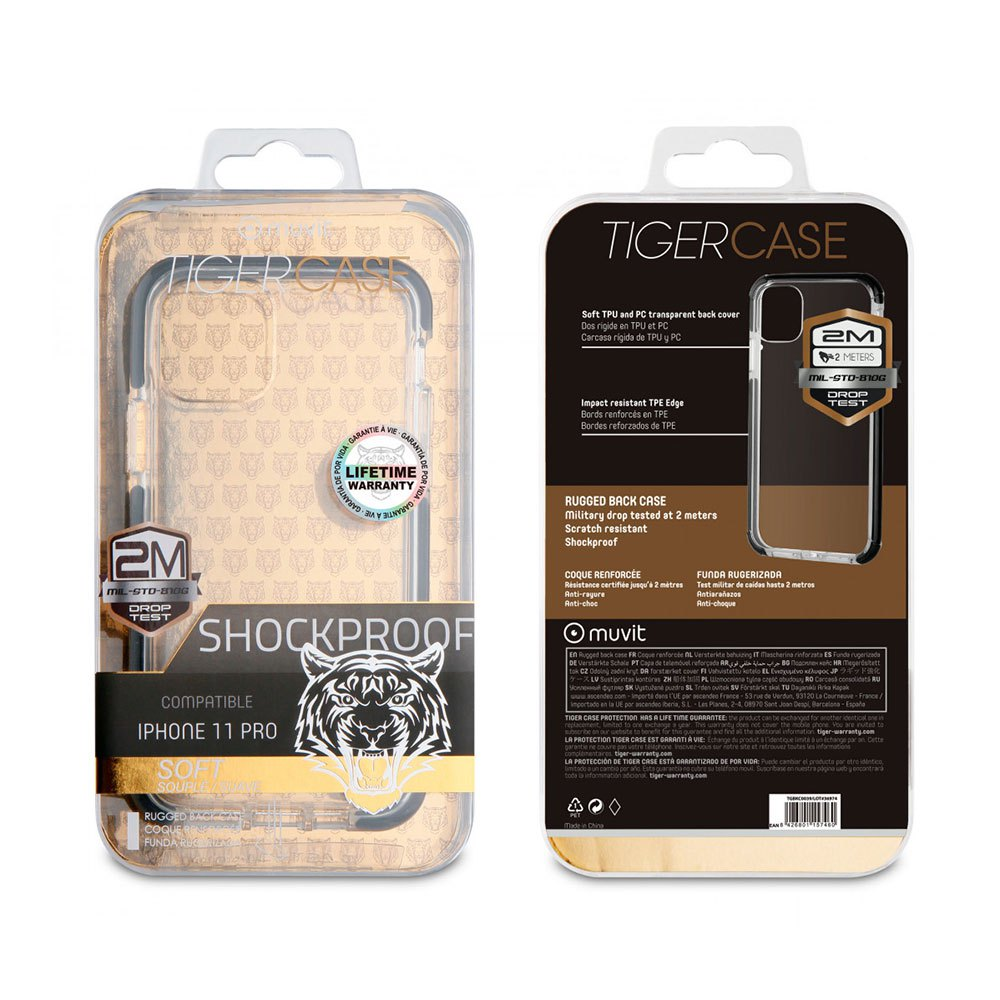 Muvit-tiger Soft Case Shockproof 2m Iphone 11 Pro One Size Clear