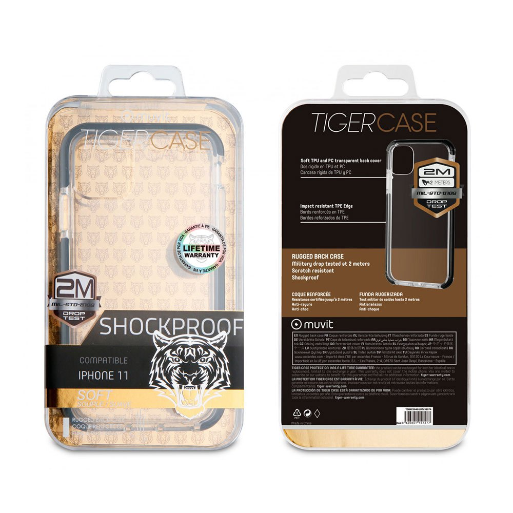 Muvit-tiger Soft Case Shockproof 2m Iphone 11 One Size Clear