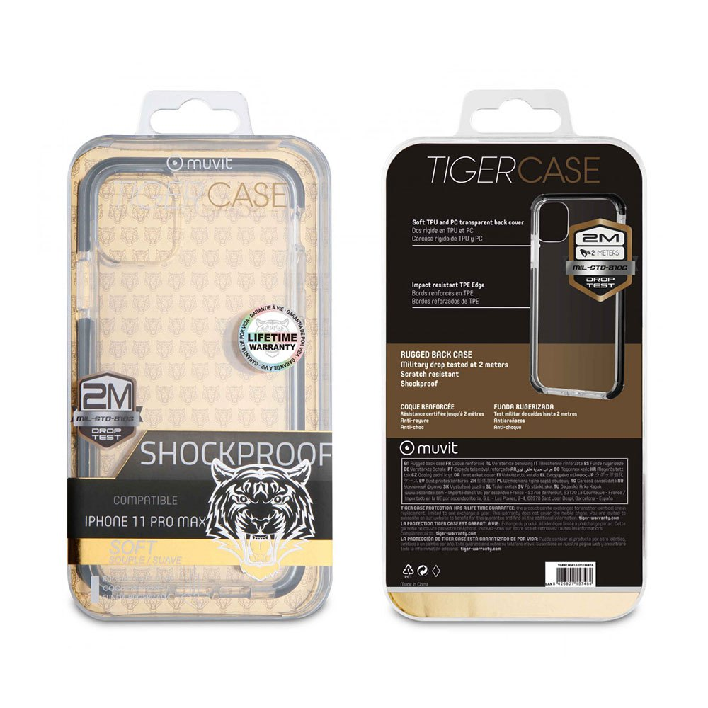 Muvit-tiger Soft Case Shockproof 2m Iphone 11 Pro Max One Size Clear