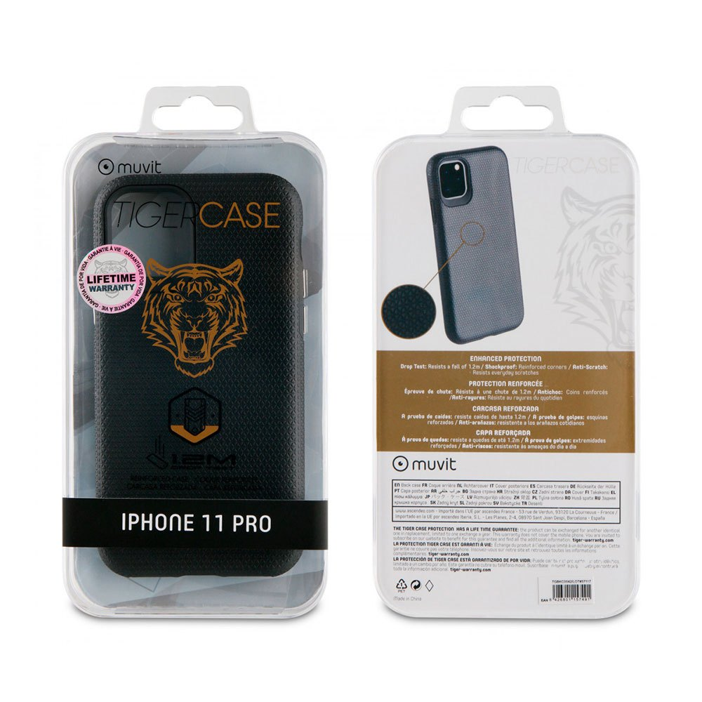 Muvit-tiger Triangle Case Shockproof 1.2m Iphone 11 Pro One Size Black