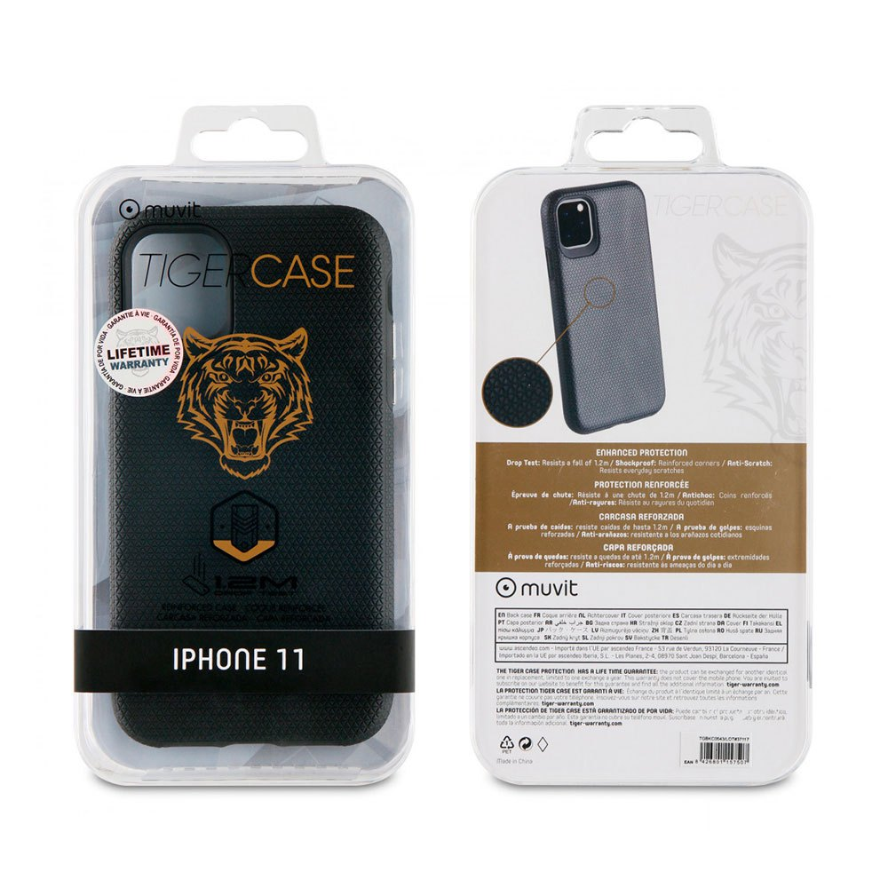 Muvit-tiger Triangle Case Shockproof 1.2m Iphone 11 One Size Black