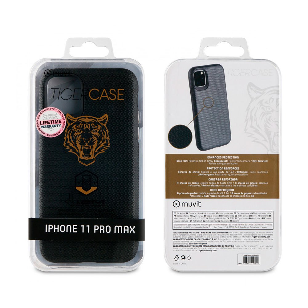 Muvit-tiger Triangle Case Shockproof 1.2m Iphone 11 Pro Max One Size Black