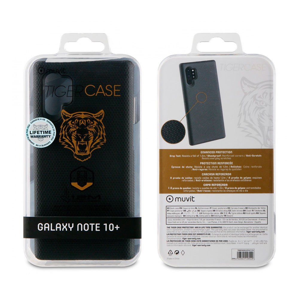 Muvit-tiger Triangle Case Shockproof 1.2m Samsung Galaxy Note 10 Plus/10 Plus 5g One Size Black